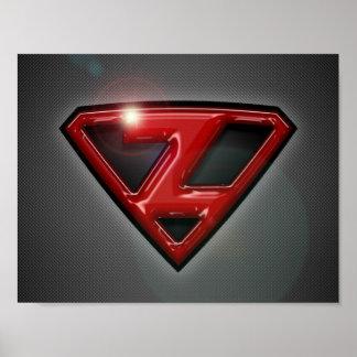 Zer0 Super Her0 Crest Poster