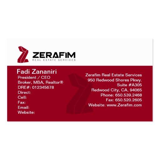 Zerafim Standard 2 Sided Business Card w