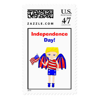 ZerderDan with the American Flag Postage Stamp