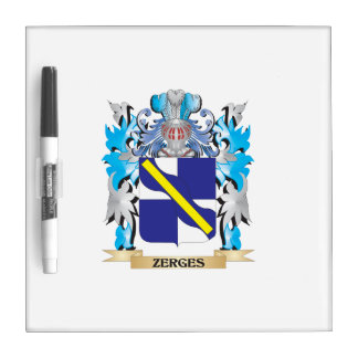 Zerges Coat of Arms - Family Crest Dry Erase Whiteboards