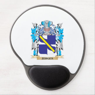 Zerges Coat of Arms - Family Crest Gel Mouse Pad