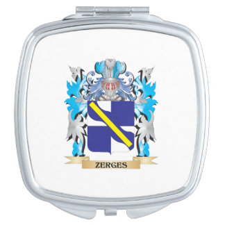 Zerges Coat of Arms - Family Crest Makeup Mirror