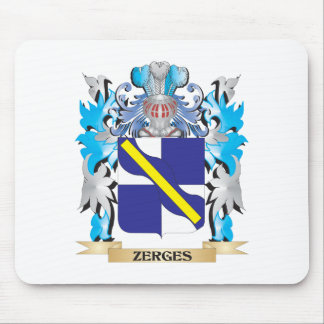Zerges Coat of Arms - Family Crest Mouse Pad