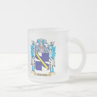 Zerges Coat of Arms - Family Crest 10 Oz Frosted Glass Coffee Mug