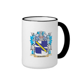 Zerges Coat of Arms - Family Crest Ringer Coffee Mug