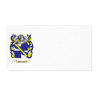 Zerges Family Crest (Coat of Arms) Shipping Label