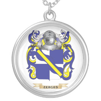 Zerges Family Crest (Coat of Arms) Round Pendant Necklace