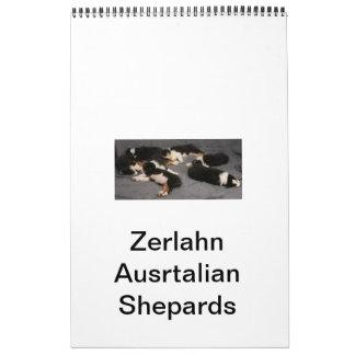 Zerlahn Australian Shepards         Name Your Cale Calendar