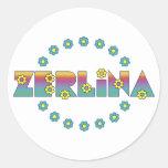 Zerlina de Flores Arco Iris Round Sticker