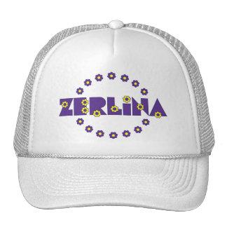 Zerlina de Flores Púrpura Trucker Hat