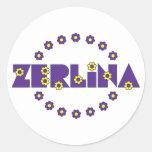 Zerlina de Flores Purpura Sticker