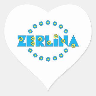 Zerlina in Flores Blue Heart Sticker
