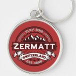 Zermatt Color Logo Silver-Colored Round Keychain