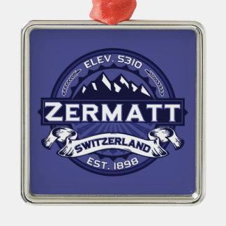 Zermatt Logo Midnight Christmas Tree Ornaments