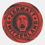 Zermatt Red Scream Sticker