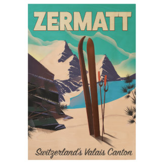 Zermatt Ski vacation poster