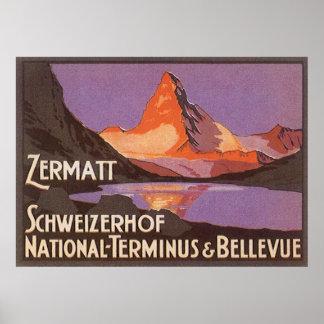 Zermatt Suiza Póster