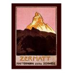 Zermatt Suiza Tarjeta Postal