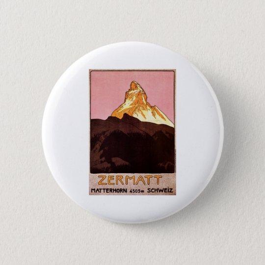 Zermatt Switzerland Pinback Button