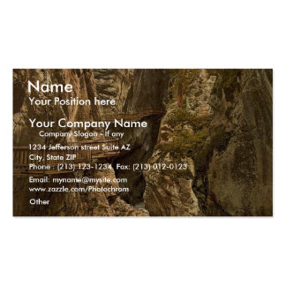Zermatt Upper Gorner Gorge Valais Alps of Swit Business Card Template