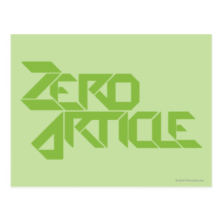Zero Article Postcard