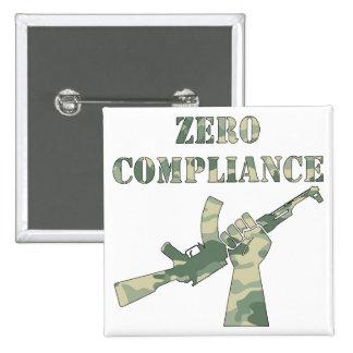 Zero Compliance AK47 Camo Pinback Button