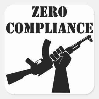Zero Compliance AK47 Square Sticker