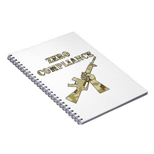 Zero Compliance AR15 Camo Note Books