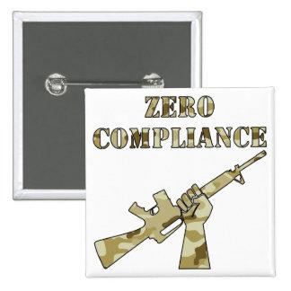 Zero Compliance AR15 Camo Pinback Button
