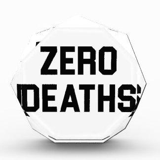 Zero Deaths Acrylic Award