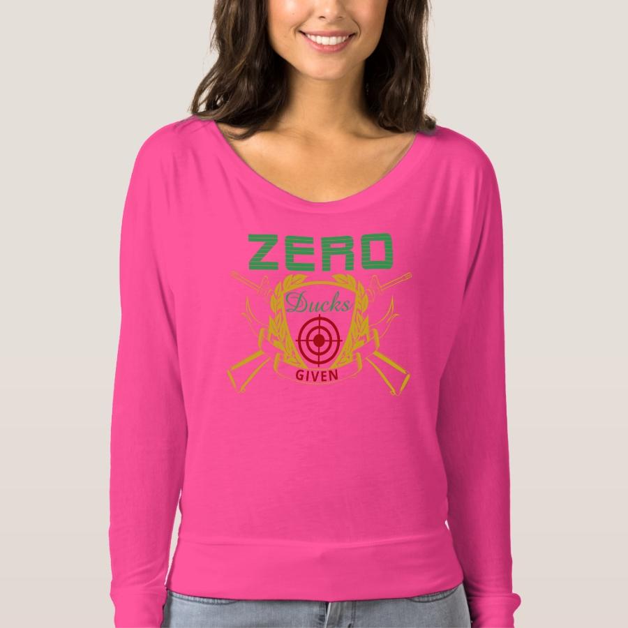 Zero Ducks Given Duck Hunter Bulls Eye T-shirt - Best Selling Long-Sleeve Street Fashion Shirt Designs