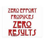 Zero Effort... Postcard