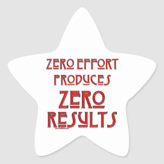 Zero Effort... Star Sticker