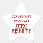 Zero Effort... Star Stickers