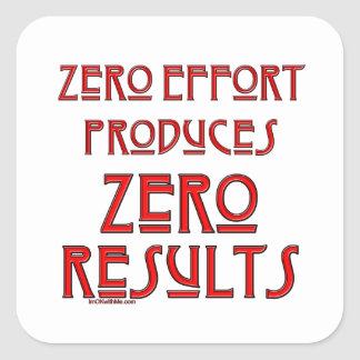 Zero Effort Square Sticker