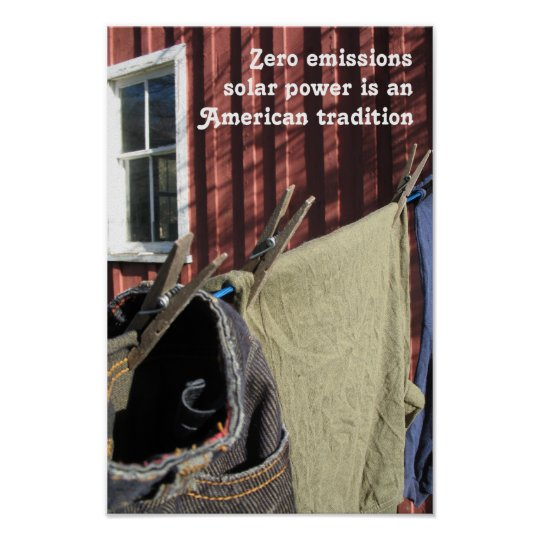 Zero Emissions Are An American Tradition Poster