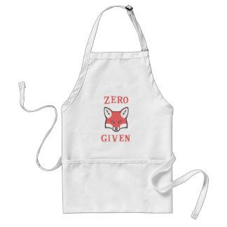 Zero (Fox) Given Adult Apron