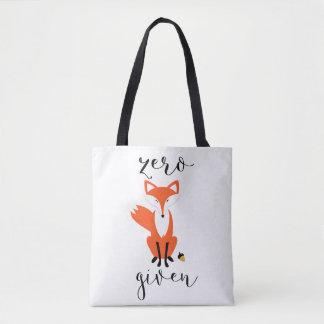 Zero Fox Given and Polka Dots Tote Bag