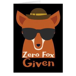 Zero Fox Given Card