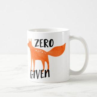 Zero Fox Given Classic White Coffee Mug
