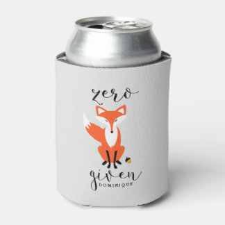 Zero Fox Given Funny Pun Personalized Can Cooler