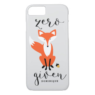Zero Fox Given Funny Pun Personalized iPhone 8/7 Case