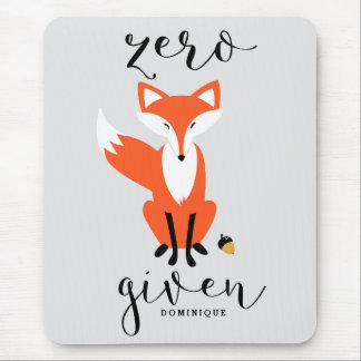 Zero Fox Given Funny Pun Personalized Mousepad