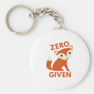 Zero Fox Given Keychain