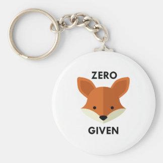 Zero Fox Given Keychain