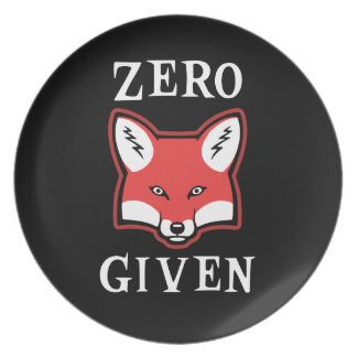 Zero (Fox) Given Melamine Plate