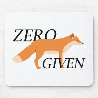 Zero Fox Given Mouse Pad