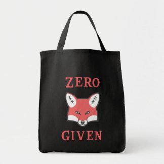 Zero (Fox) Given Tote Bag