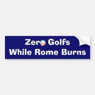 Zero Golfs While Rome Burns Car Bumper Sticker