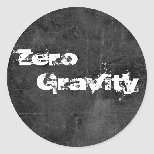 Zero gravity 2 classic round sticker